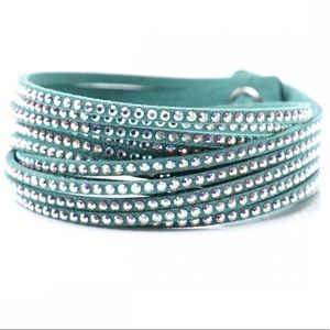 Swarovski Crystal Slake Bracelet Light Blue
